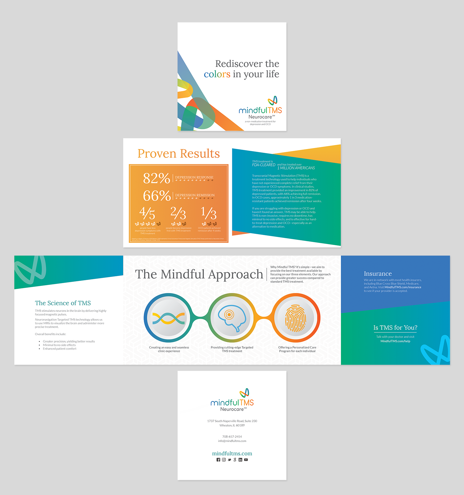 Quad-Fold Brochure for Mindful TMS