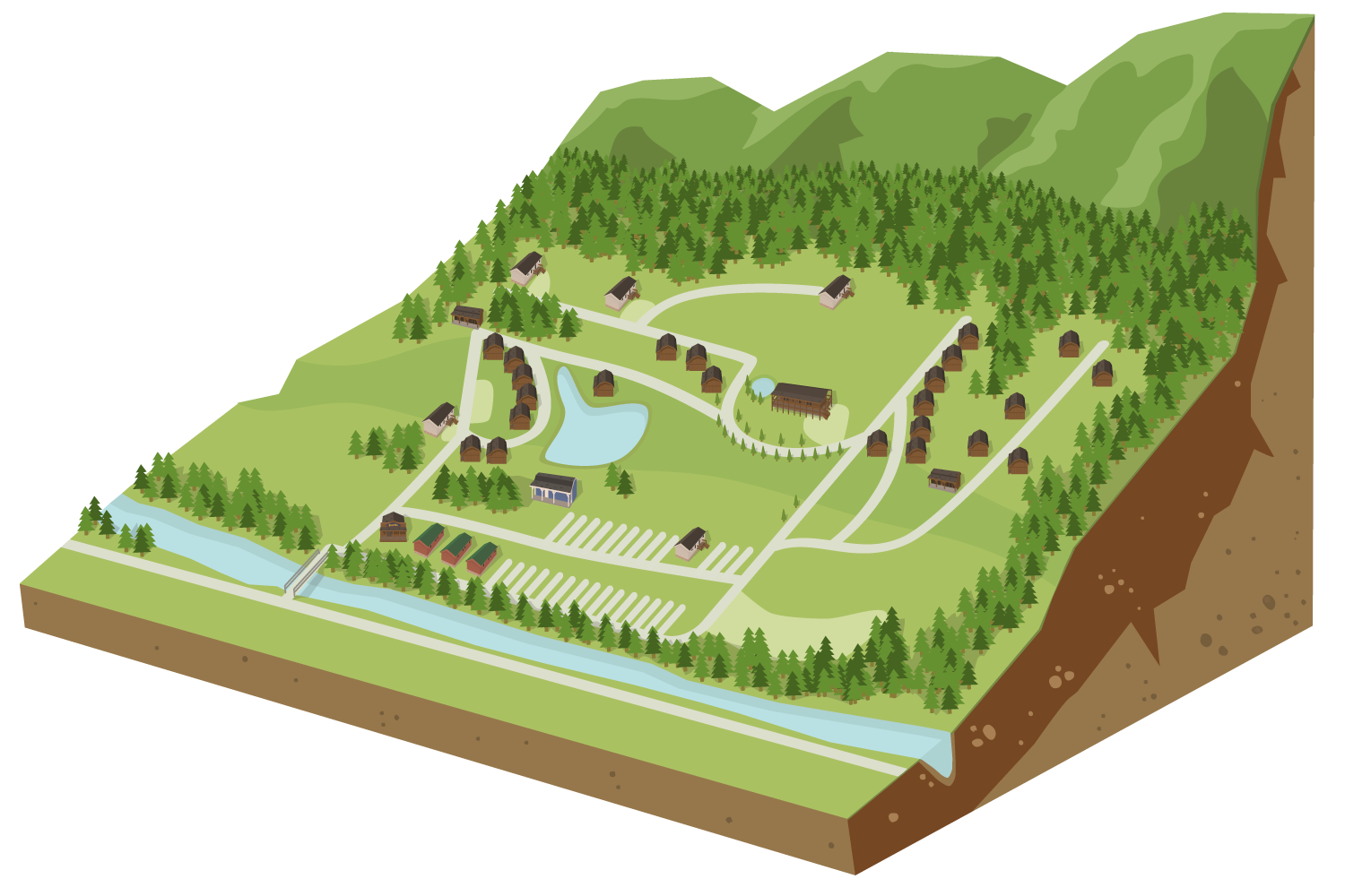 Campsite Map for Ride Royal Blue Resort